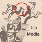風刺画 メディアは一部しか報道しない